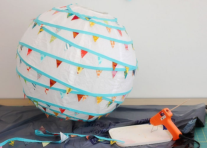 paper lantern DIY - a tutorial by Kirsty at Bonjour Quilts