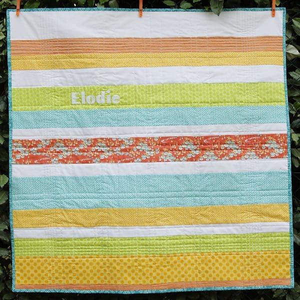 Spring Baby Quilt Bonjour Quilts