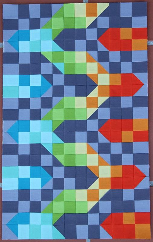 Rainbow Chevron Mini Quilt - Bonjour Quilts