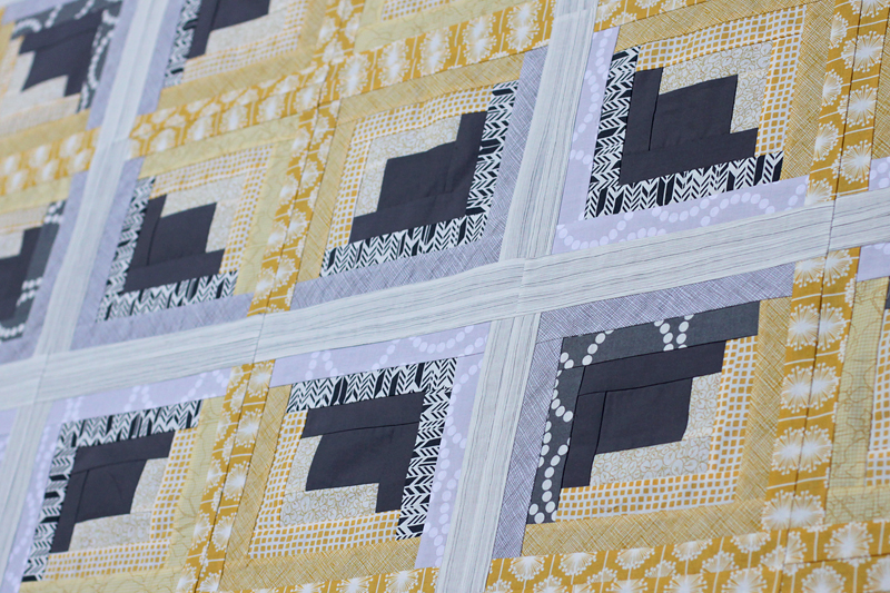Bonjour Quilts: Rectangular Log Cabin Quilt Tutorial