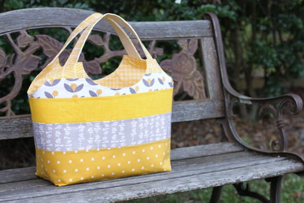 Big Patchwork Tote made by Kirsty at Bonjour Quilts from Krista's book Make it, Take it.