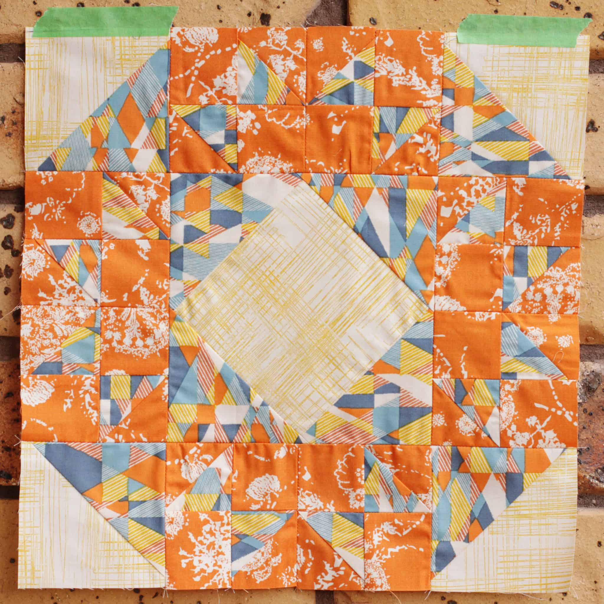 Farmers Wife 1930s Sampler Quilt Block 14 Betty Four Square