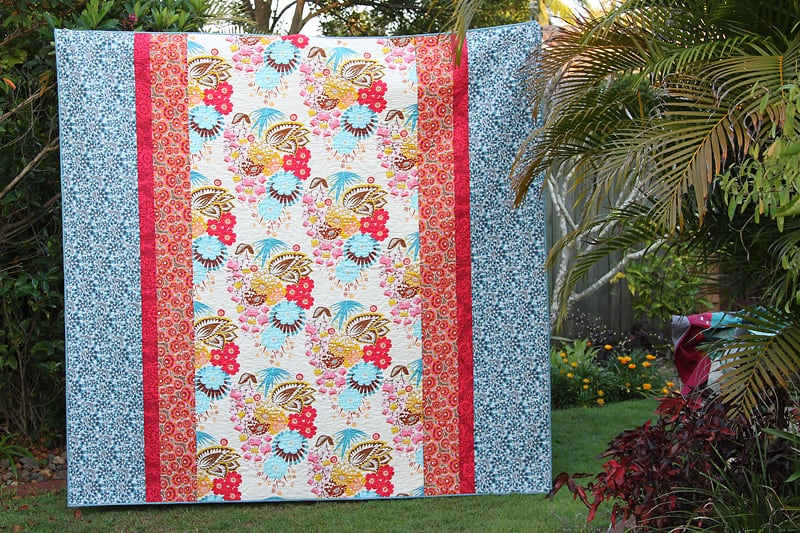 Free pattern download for this queen quilt at Bonjour Quilts