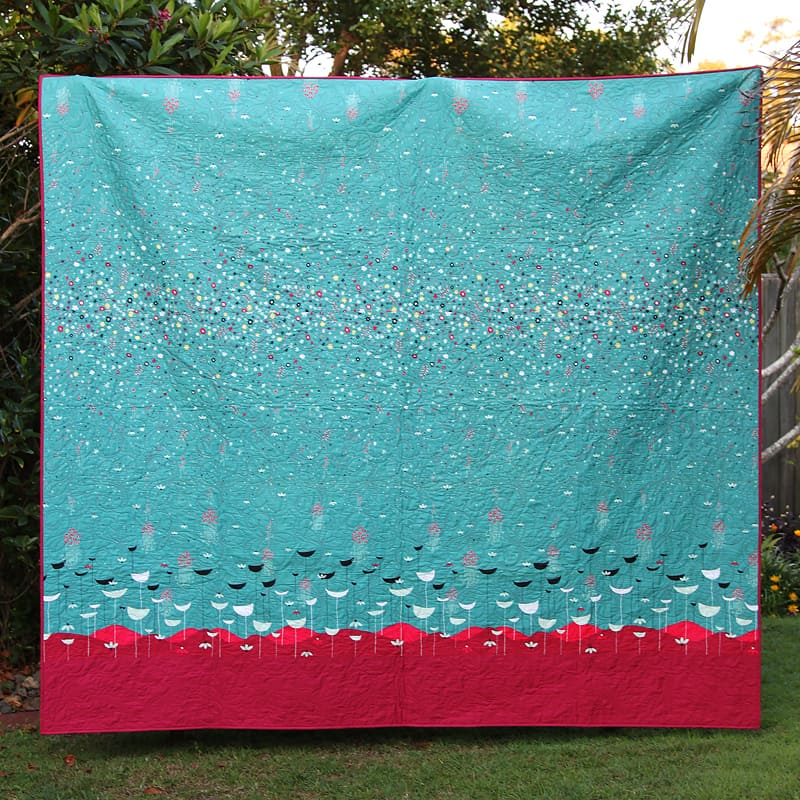 Whimsicol Queen Quilt by Kirsty of Bonjour Quilts - made with Jeni Baker's Nordika line