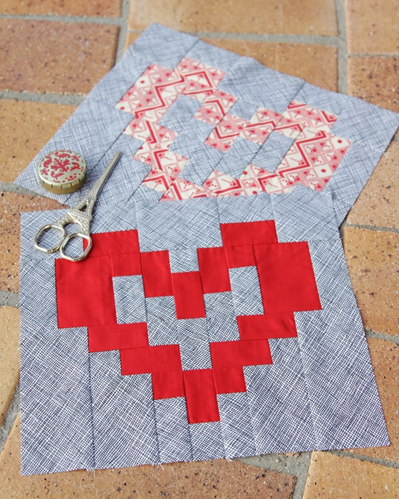 Valentine s Heart Block Pattern Bonjour Quilts