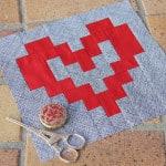 Valentine's Heart Block Pattern