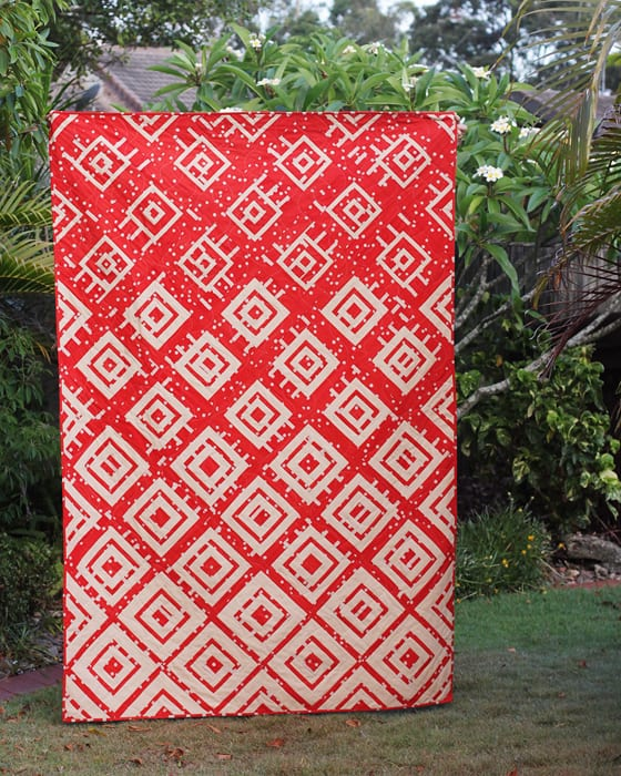 Wildfire quilt by Kirsty of Bonjour Quilts. Quilt pattern available.