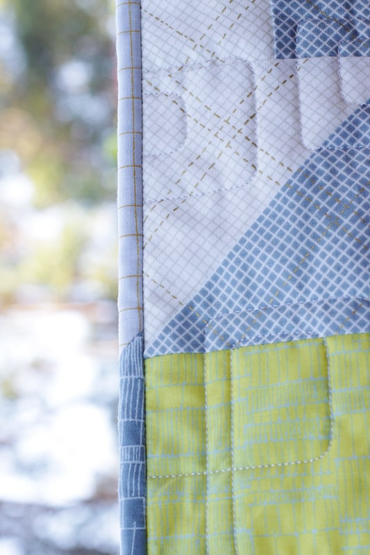The Plus Side (quilt pattern) by Kirsty at Bonjour Quilts. Made in Carolyn Friedlander's Carkai fabric line