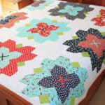 Fleur queen sized quilt pattern PDF - by Kirsty of Bonjour Quilts