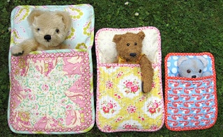 Flossie Teacakes sewing pattern - Three Bears Sleeping Bags