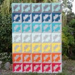 Rainbow Plus Side quilt