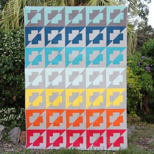 Rainbow Plus Side quilt