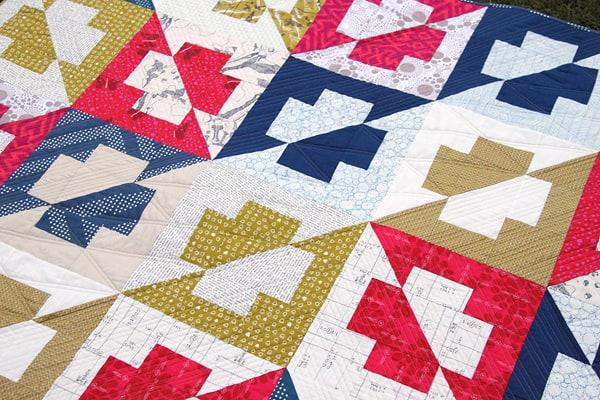 Plus Side Quilt - With a Twist | Bonjour Quilts