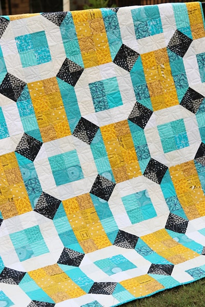 Connections quilt pattern available from Bonjour Quilts