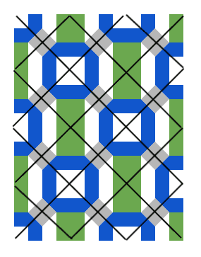 How to quilting design for Connections baby quilt by Bonjour Quilts