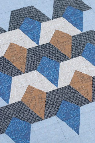Deco Diamonds by Bonjour Quilts. A baby quilt, cushion and mini-quilt pattern.