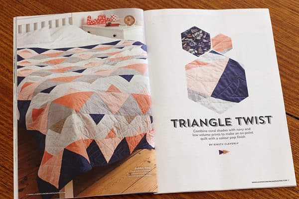 Kirsty at Bonjour Quilts' project in LPQ called Triangle Twist