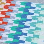 Slip Stitch modern quilt pattern by Bonjour Quilts