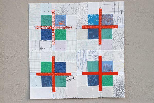 Quilt block tutorial: Scrappy Cross Patchwork Block by Bonjour Quilts
