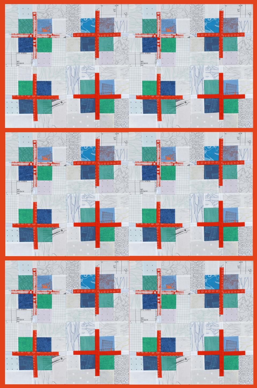 Scrappy Cross Patchwork Block Tutorial Bonjour Quilts