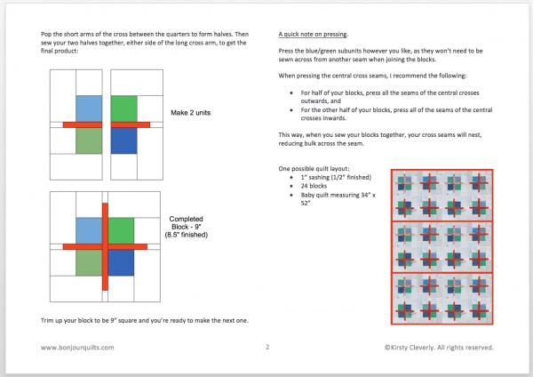 Scrappy Cross Block PDF download