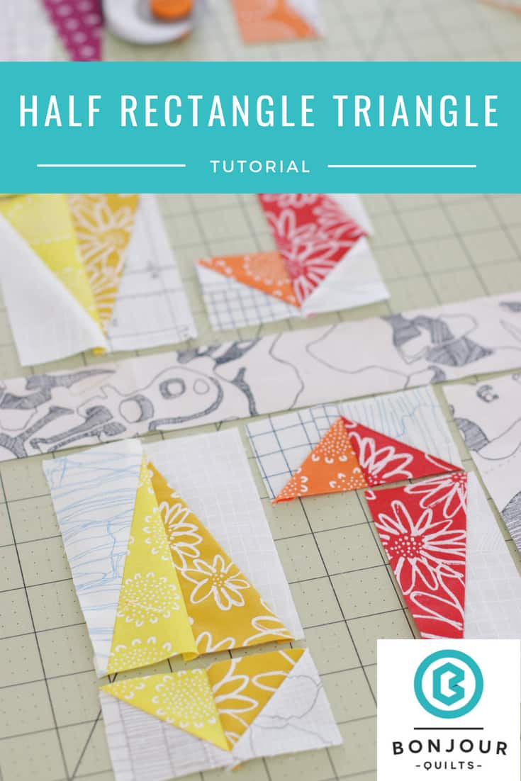 Half Rectangle Triangle Block Tutorial Bonjour Quilts