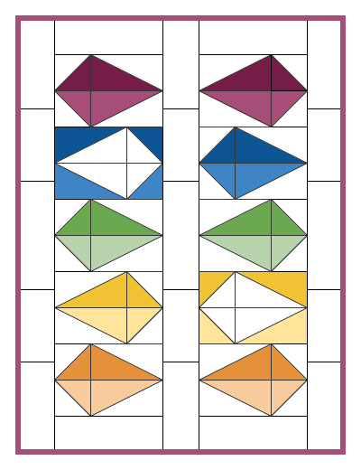 Scrappy Kites free mini quilt pattern download - Bonjour Quilts