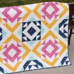 Triangle Trove quilt pattern by Kirsty at Bonjour Quilts