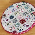 A scrap fabric embroidery tutorial at Bonjour Quilts