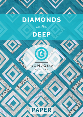 Diamonds in the Deep Quilt Pattern - Printed