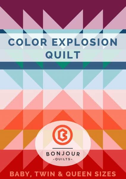 Color Explosion Quilt pattern, crib, twin and queen sizes