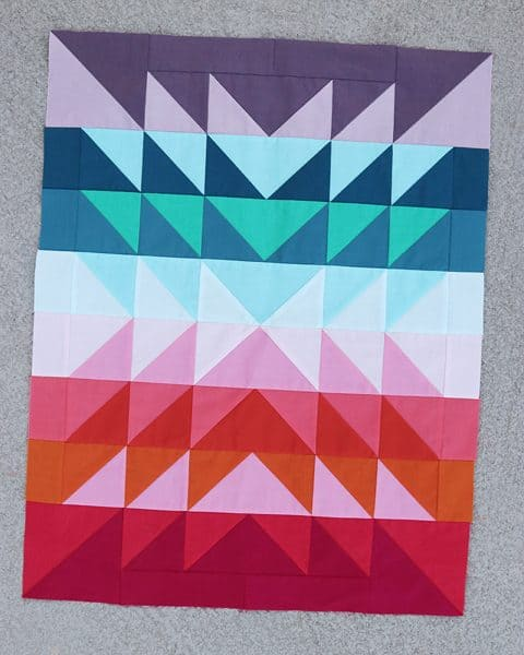 Color Explosion Quilt, twin size pattern, by Bonjour Quilts