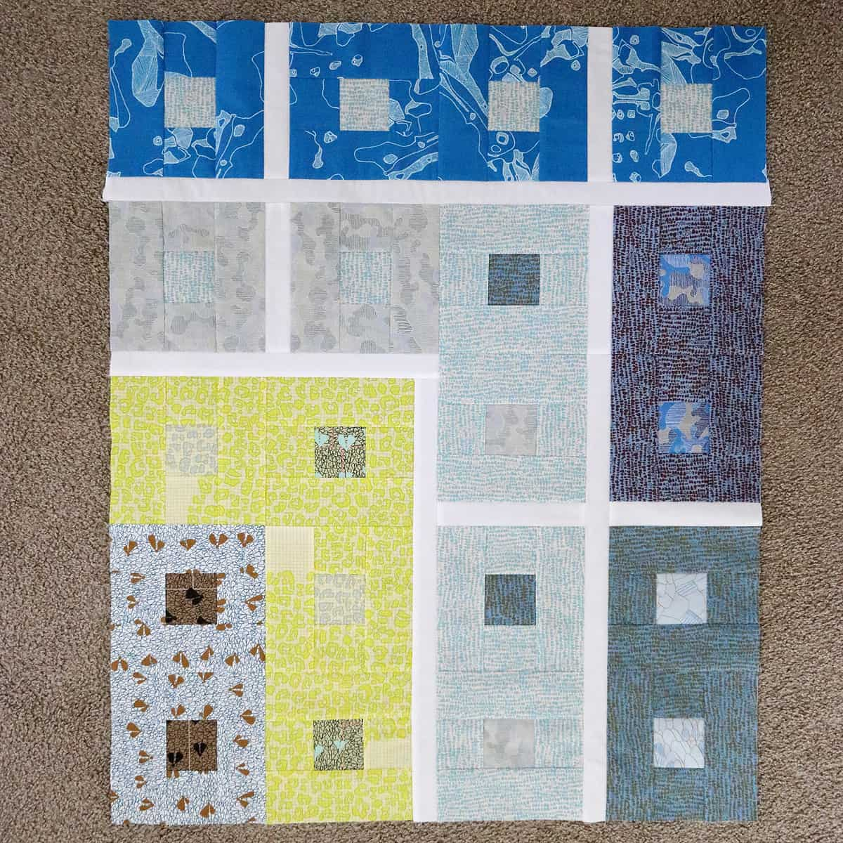 Lattice Quilt (in Gleaned) | Bonjour Quilts