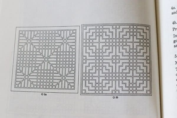 Chinese Lattice Designs book - great for quilters, too!