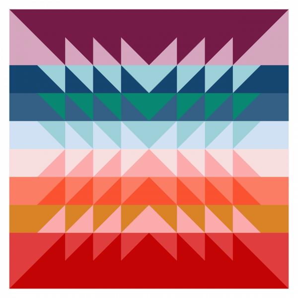 Color Explosion Quilt, queen size pattern, by Bonjour Quilts