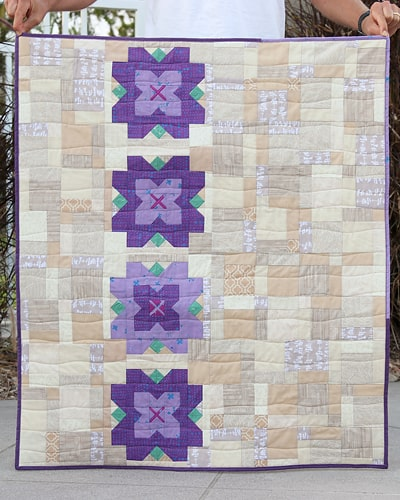 Flower baby quilt pattern by Bonjour Quilts