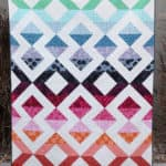 Twin size half square triangle quilt pattern