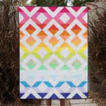 Half square triangle quilt pattern crib size