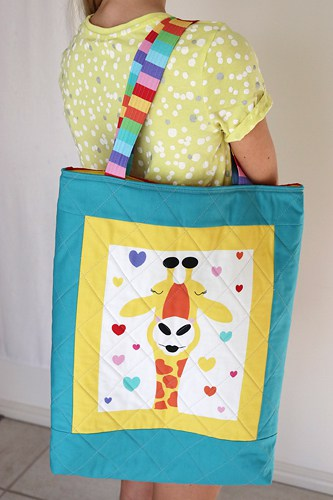 Quilted Tote Bag pattern by Bonjour Quilts