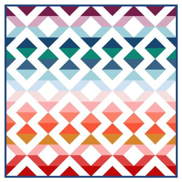 Queen size half square triangle quilt pattern