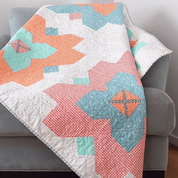 Peta of She Quilts A lot made this version of my Fleur quilt pattern