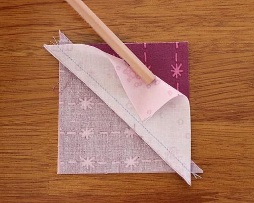 How to sew quarter square triangle blocks