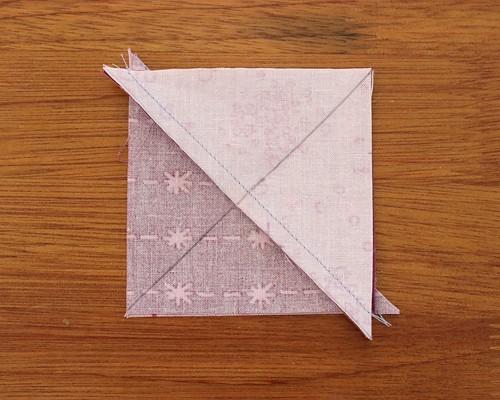 How to make quarter square triangle quilt blocks
