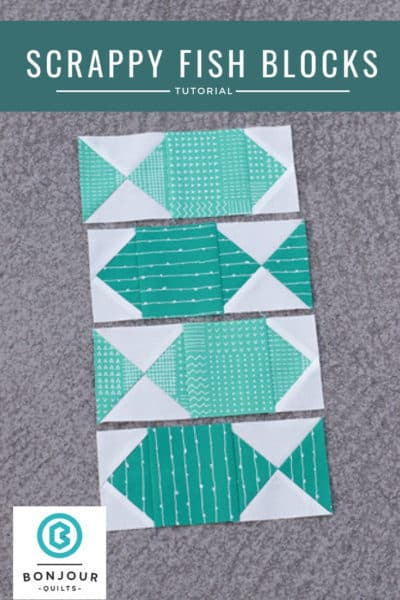 A Fish Quilt Block And Some Scrap Quilt Ideas Bonjour Quilts