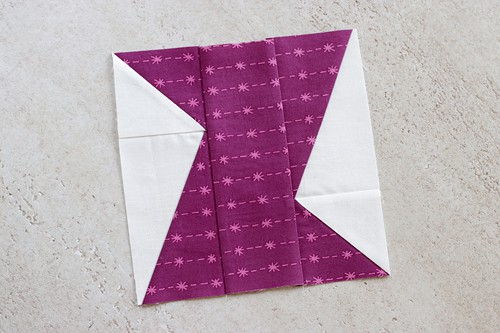 Zed Quilt pattern includes tips to make sure the pattern in your fabric is the same across the block