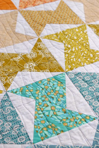 Quilting on Zed quilt