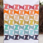 Zed quilt pattern with HSTs and half rectangle triangles