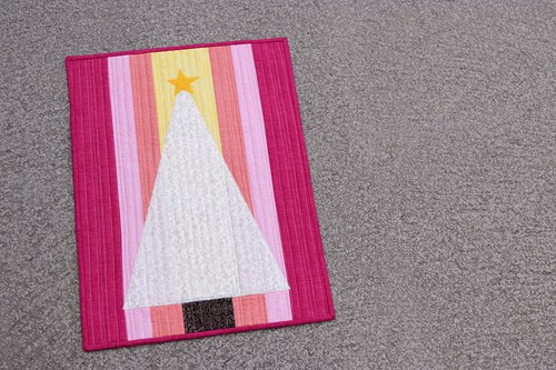 Candy Christmas, a holiday mini quilt by Kirsty at Bonjour Quilts