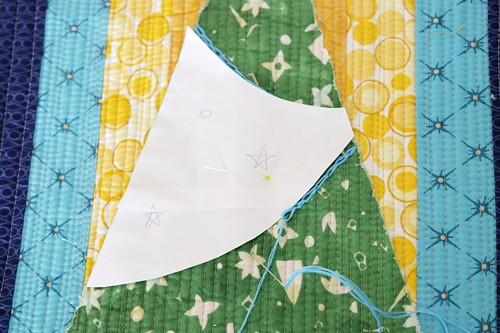 Embroidery embellishment and other decoration ideas for a Christmas mini quilt by Bonjour Quilts