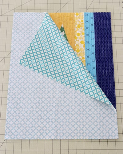Self Binding quilt tutorial by Bonjour Quilts